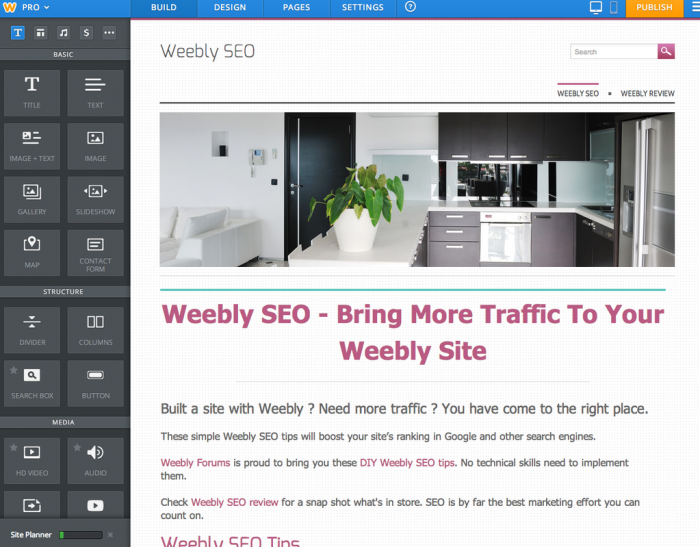 weebly review seo
